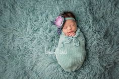 Glacier Blue Newborn Swaddle Sack | Beautiful Photo Props