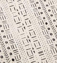 White Mudcloth Throw Blanket - Home Decor Handmade in Africa - Swahili Modern - 2
