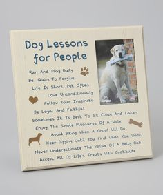 'Dog Lessons for People' Picture Frame by Dog Speak