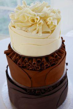 Pure chocolade, melkchocolade én witte chocolade. We love it!