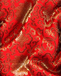 JP  BROCADE  Lattice red Chinese Brocade fabric Asian Fabric 4be4bcfa6