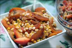 Roasted Nectarine, Corn and Basil Salad and Mexican Barley Salad