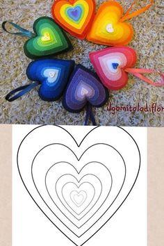 cartamodello cuore