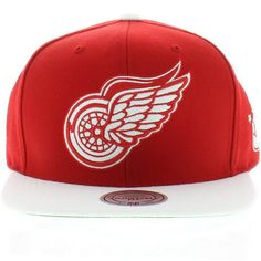 Detroit Redwings Team Colors The XL 2 Tone SNAPBACK By Mitchell And Ness