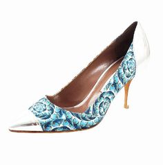 Tabitha Simmon Metallic Fish Toe Pisces Leather Pump  $745  Shimmer and shine with each step in Tabitha Simmon's metallic toe fish pumps.