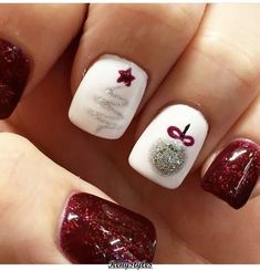 Christmas Nails That Boost Your Mood Winter nails. Fun designs for manicuresWinter nails. Fun designs for manicures Christmas Nail Art Designs, Winter Nail Designs, Christmas Ideas, Christmas Night, Christmas Design, Christmas Crafts, Christmas Decorations, Christmas 2017, Fancy Nails