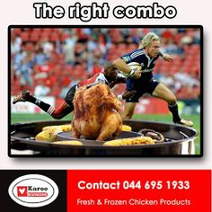 The right combination this weekend is a Karoo Kuikens chicken on a braai while watching the rugby. We also stock chicken wors at and sosaties in a choice of 24 different sauces. Enjoy the Rugby everybody. Fresh Chicken, Frozen Chicken, Special Recipes, Rugby, Sauces, Gravy, Dips, Football