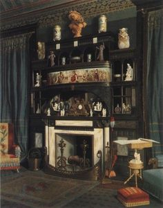 Chimneypiece in Boudoir, Residence of William H. Vanderbilt, 640 Fifth Avenue.