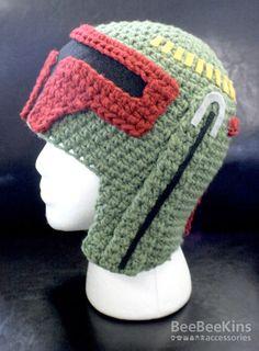 Boba Fett crocheted helmet