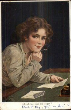 Image result for vintage ladies writing letters