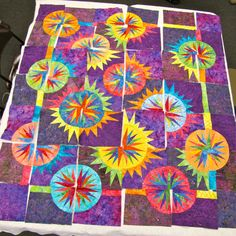 One of my student's quilts from my Total Eclipse class! -   #Class #Eclipse #from #my #Of #One #Quilts #student's #Total #interiordesign #interior #design #art #diy #home