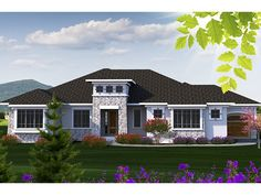 Mediterranean-Modern Home Plan with 2507 Square Feet and 2 Bedrooms from Dream Home Source | House Plan Code DHSW077704