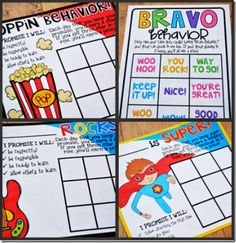 "Do your kids have ""Bravo Behavior""? Use these fun behavior charts to motivate your students. FREE!"