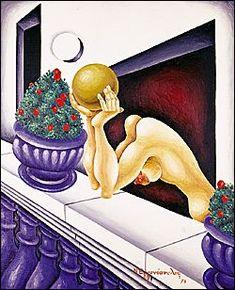 Nikos Eggonopoulos (Νίκος Εγγονόπουλος) -  Girl at the window Classical Period, Classical Art, Modern Art, Contemporary Art, Hellenistic Period, Greek Art, Conceptual Art, Urban Art, Installation Art