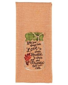 Canning Embroidered Tea Towel