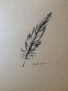 Original Pen and Ink Rustic Feather by SarahsUpcycled on Etsy