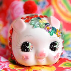 Chinese Jeweled Piggy Bank by sisters520 on Etsy, $30.00