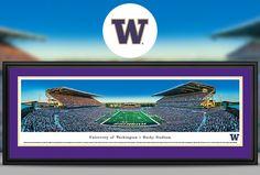University of Washington Huskies Panoramic Pictures & Posters Husky Basketball, Uw Huskies, Panoramic Pictures, University Of Washington, Football Team, Posters, Sports, Hs Sports, Sport