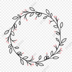 Hand Embroidery Patterns Flowers, Diy Embroidery, Embroidery Designs, Doodle Frames, Simple Line Drawings, Wreath Drawing, Simple Cartoon, Wreath Watercolor, Floral Illustrations