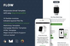 Flow Email Template + Builder by Digico on @creativemarket