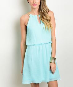 Look at this Mint Yoke Dress on #zulily today!
