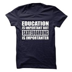 SKATEBOARDING is importanter - #comfy hoodie #sweater refashion. ORDER NOW => https://www.sunfrog.com/Sports/SKATEBOARDING-is-importanter-57266612-Guys.html?68278