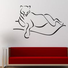 """Style and Apply Abstract Panther Wall Decal Size: 39"""" H x 59"""" W, Color: Gold"""