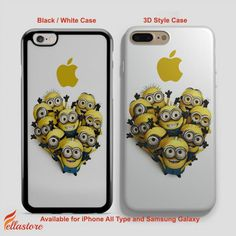 nice Cute Despicable Me Mustache Minion Apple iPhone 7-7 Plus Case, iPhone 6-6S Plus, iPhone 5 5S SE, Samsung Galaxy S8 S7 S6 Cases and Other