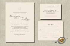 Carved Initials Heart and Faux Bois (Woodgrain pattern) Woodland Wedding Invitation