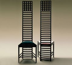 Sedia design di Charles Rennie Mackintosh (stile liberty) 292 HILL HOUSE 1