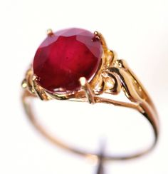 I so adore this Art Nouveau Ruby Ring...