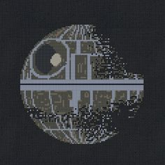 Death Star II Star Wars Cross Stitch Pattern Modern por Stitchering