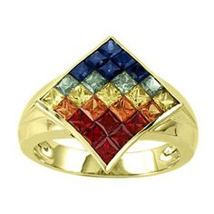 Asher Collection: Rainbow Sapphire Ring $1,075.00 #Asher #Jewelry