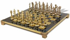 http://www.chessdirectory.info/metal-chess-sets/