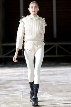 Nina Donis, F/W 2011, Moscow. straight jacket chic.