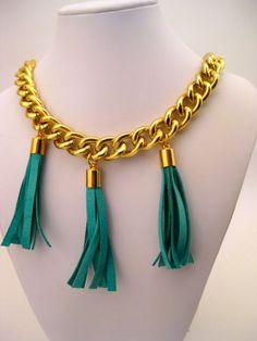 DIY tassel necklace using @leathercordusa custom deerskin lace