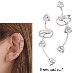 This is a neat ear cuff (Sterling Triple Celtic Knot Ear Cuffs - New Age & Spiritual Gifts at Pyramid Collection)