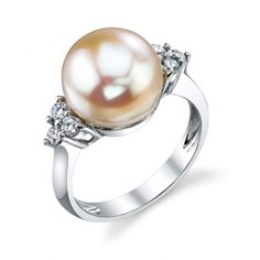 Pearl Diamond Ring Engagement Rings Colored Stones - Designer Engagement Rings, Fine Jewelry & More.  GEOFFREYS DIAMONDS! Serving San Carlos, Redwood City, Belmont, Foster City, San Mateo & the entire bay area.
