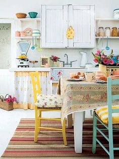 vintage kitchen colour