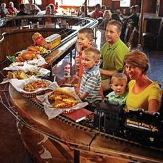 Buffalo Phil's delivers food by train! - Wisconsin Dells Dining