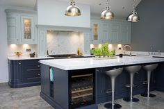 One of our favourite kitchens we have done - our beautiful 1909 In-Frame kitchen in Charcoal and Partridge Grey - an absolute stunner! Shaker Kitchen, New Kitchen, Kitchen Ideas, Gods Kitchen, Kitchen Images, Kitchen Showroom, Kitchen Interior, Charcoal Kitchen, Kitchen Diner Extension