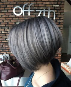 """OFF 7TH HAIRSALON (@off7thsalon): """"Silver creative color done by stylist Angela!"""""""