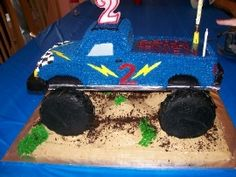 Monster Truck Cake with instructions