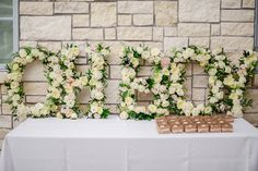 floral-letters-baby-shower. Prettiest baby shower ever.