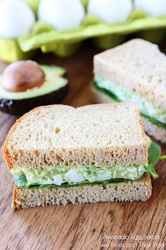 Avocado Egg Salad Recipe from twopeasandtheirpo.... My favorite egg salad recipe! So easy too!