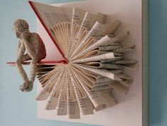 Folded Book Art - Sisters - Gift for Best Friend - Book Lover - Family Gift - Paper Art - Book Origami - Folding Books Old Book Crafts, Book Page Crafts, Paper Art, Paper Crafts, Cut Paper, Origami Butterfly, Book Folding Patterns, Diy Fan, Folded Book Art