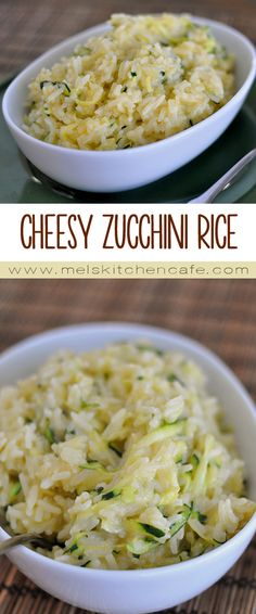 This Cheesy Zucchini Rice is a delicious way to sneak vegetables into a side dish!