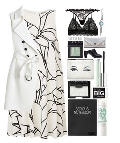 """""""She walks with class and speaks with sass..."""" by eclectic-chic ❤ liked on Polyvore featuring Agent Provocateur, Topshop, NARS Cosmetics, Kate Spade, Clinique, Maison Margiela, White House Black Market, vintage, yoins and cutecardigan"""