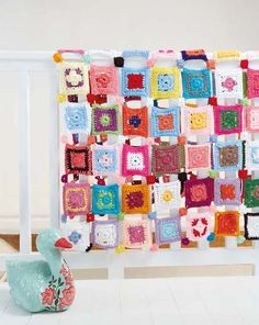 Crochet Super Quick Patchwork Blanket Pattern from Ideas Mag South Africa