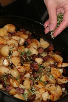 Andouille Breakfast Potatoes - I made these for my dad's Father's Day brunch because he loves potatoes and, like any good Cajun, he loves his andouille. They were so good! If I made them for him again, I'd add more sausage. The man loves his meat.